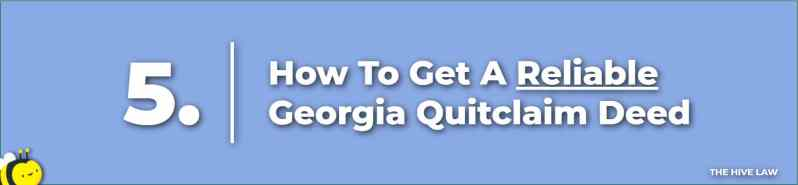 How To Get A Georgia Quit Claim Deed