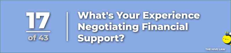 Negotiating Spousal Support Child Support Alimony - questions to ask a divorce lawyer during initial consultation