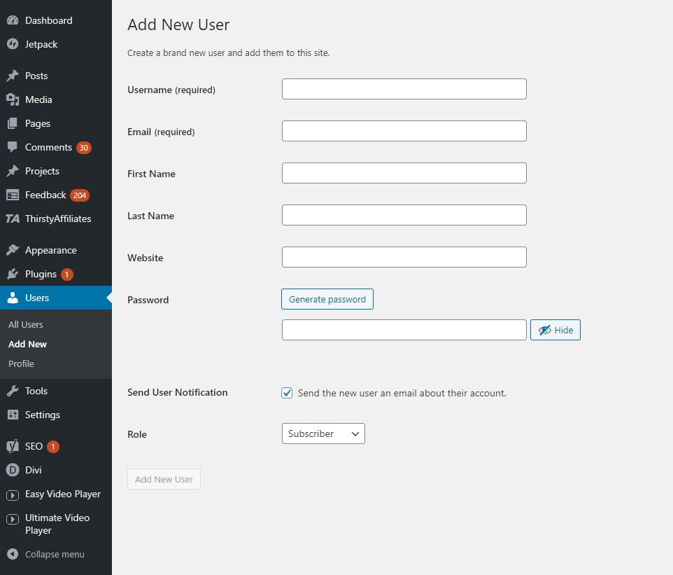 How to Change WordPress Username