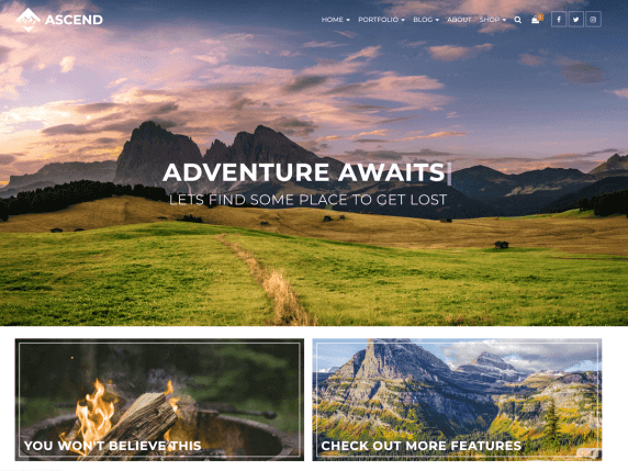 ascend Best Free Themes For WordPress