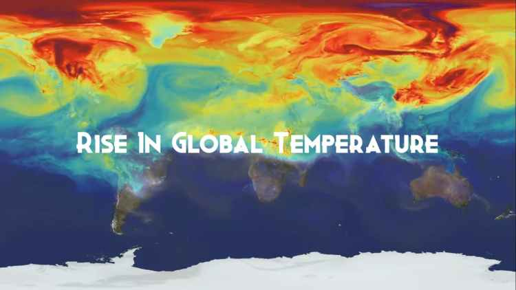 Rising global temperature