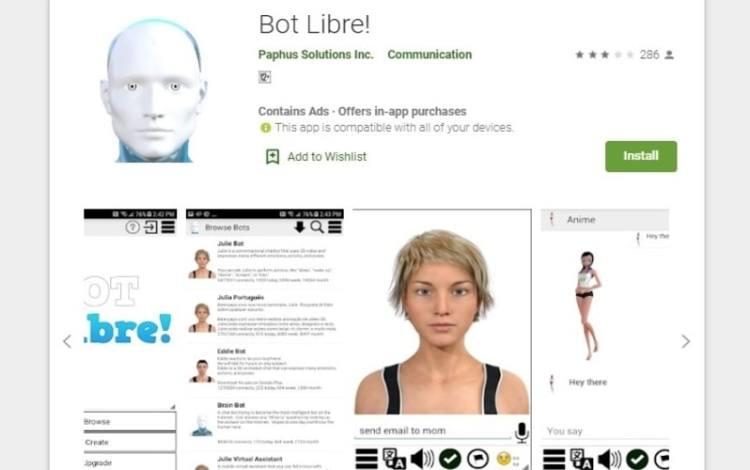 Bot libre app
