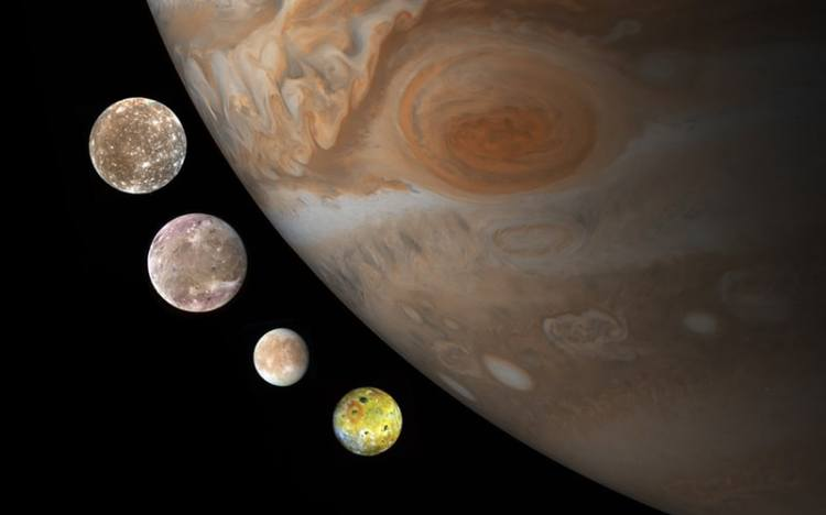 Surface of moons of jupiter