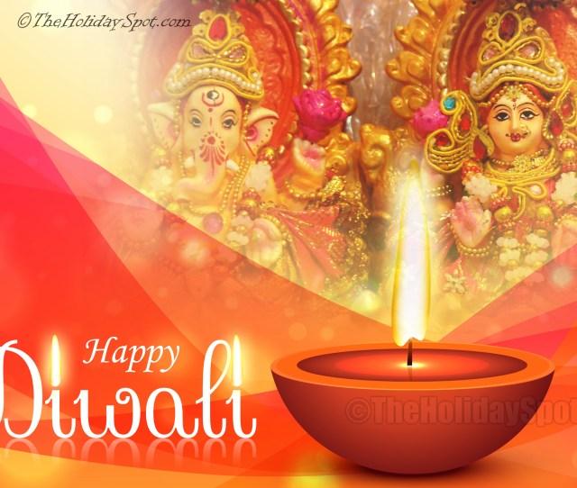 Hd Diwali Wallpaper Of Lakshmi And Ganesh