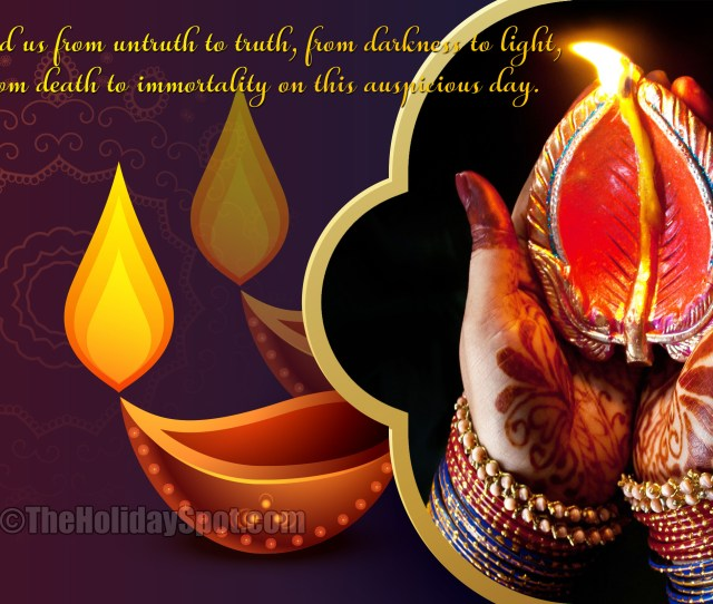 Hd Diwali Wallpaper Themed With Diyas And A Nice Quotation