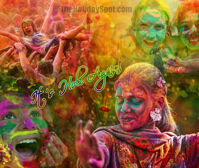 Hd Wallpaper With Different Moods Of Holi Celebrations New
