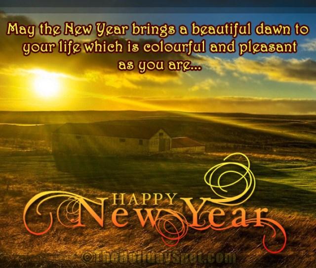 New Year Greetings With Beautiful Dawn