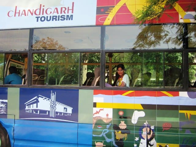 chandigarh tour bus
