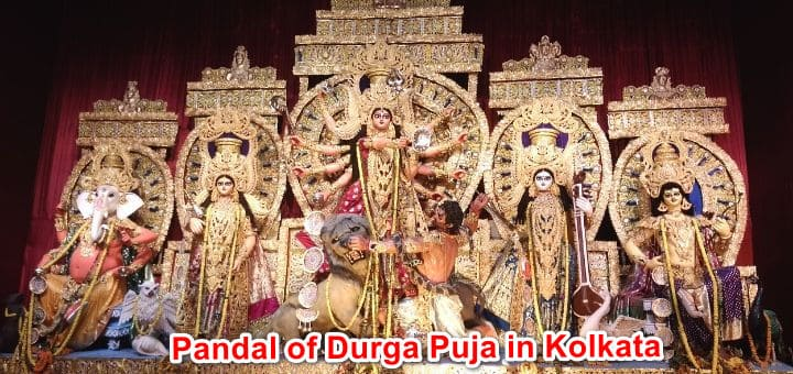 Pandal of Durga Puja in Kolkata