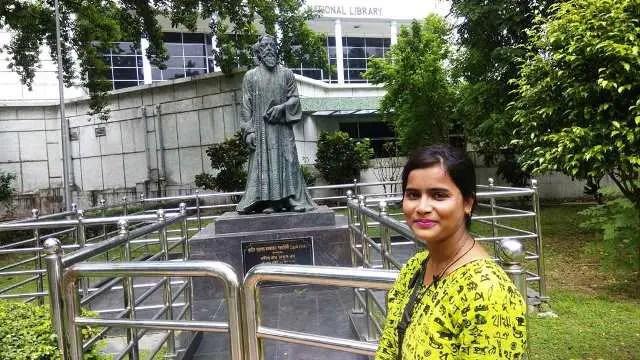 Inside of national library Kolkata
