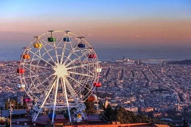 Barcelona Tibidabo Spain Giant Ferris Wheel