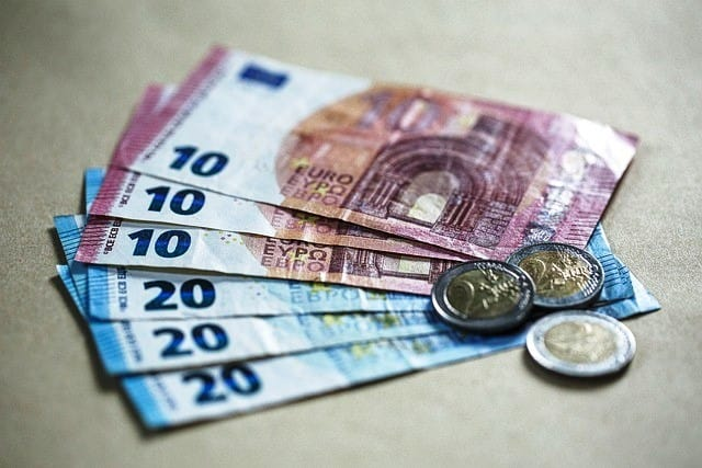 Money Euro Cash Currency Paper Money Coins