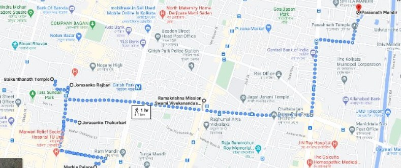 places near marble palace map
