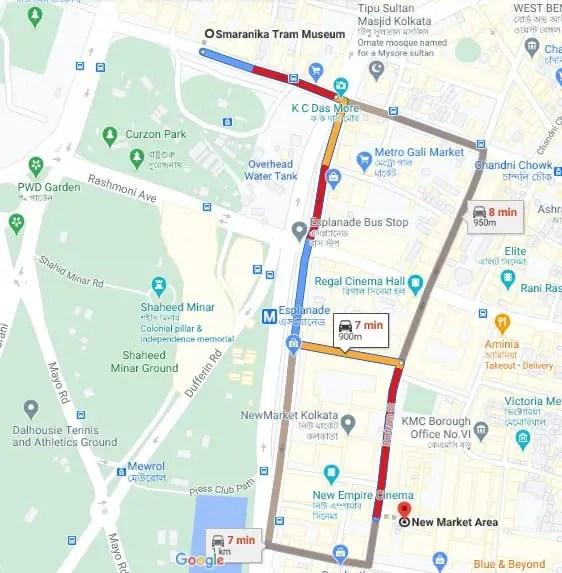 Smaranika tram museum Kolkata map