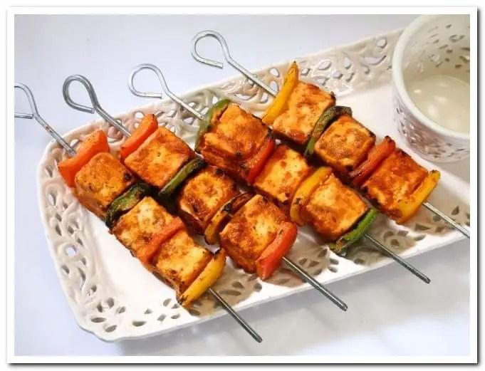 Paneer tikka masala kabab