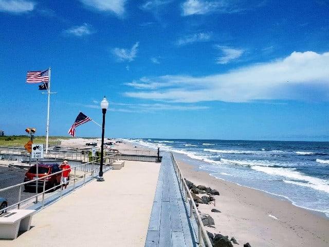 Brigantine beach in New Jersey United States
