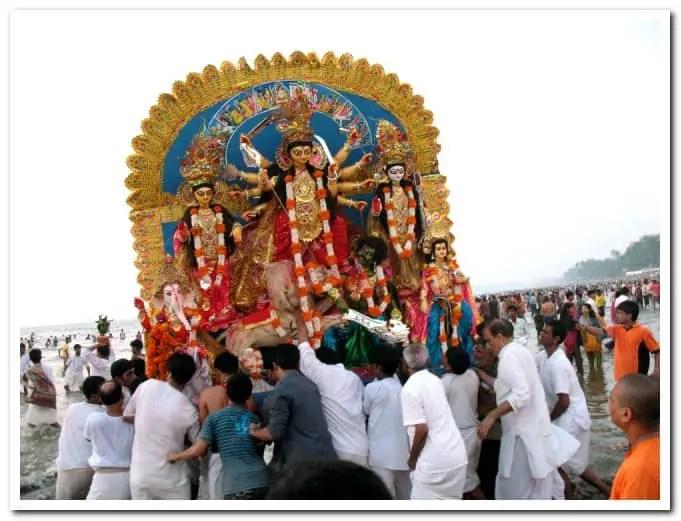 mumbai ramakrishna mission durga puja visarjan