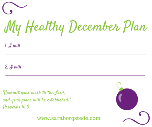 Healthy Holiday: Get Your Head in the December Game!