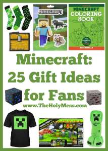Minecraft: 25 Gift Ideas for Fans The Holy Mess