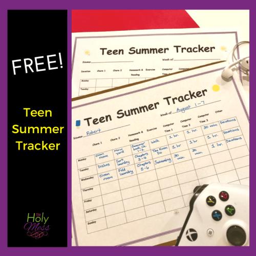 Teen Summer Tracker