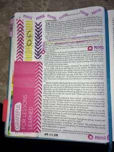 Bible journaling with tip ins Genesis 24