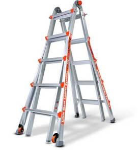 Little Giant 22-foot Ladder - adjustable ladder for stairs