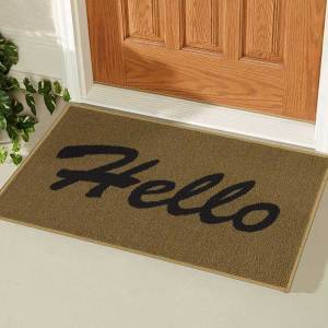 Rectangular Hello Doormat
