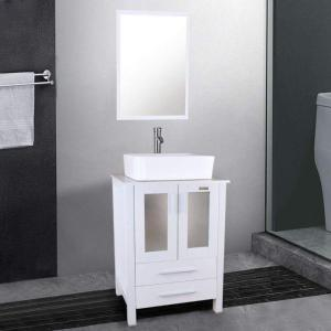 """Eclife 24"""" Vanity - High Quality Small Bathroom Vanity and Sink Combo"""
