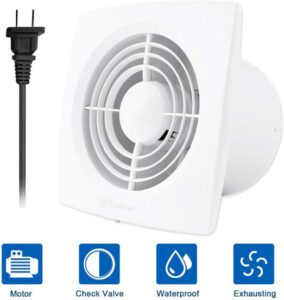 Hon&Guan 6 Inch Ceiling and Wall Mount Exhaust Fan for Kitchen