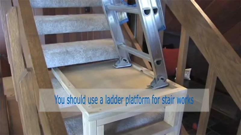 Ladder Platform to use a Ladder on Stair