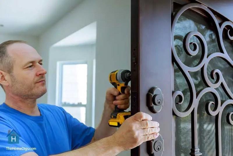 installing security door