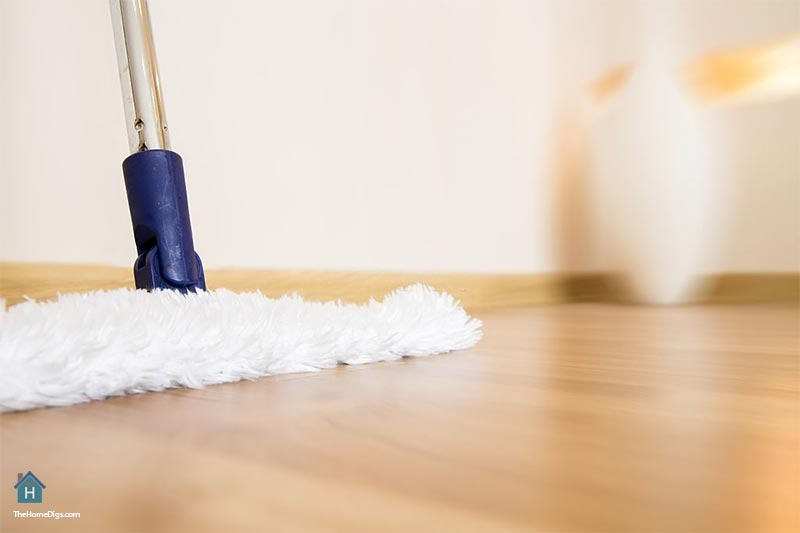 Microfiber Dust Mop is the best thing to use to clean wood floors