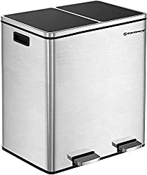 Best dual compartment step trash can