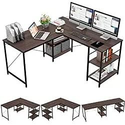 best home office desk for multiple monitors