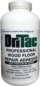 DriTac Professional Floor Repair Adhesive - Best Glue for Hardwood Floor Repair