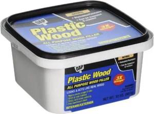 DAP 00525 Plastic Wood Filler for All-Purpose (Best for Screw Holes & Cracks)
