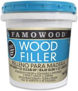 FamoWood 40022126 Latex Wood Filler for Interior/Exterior Use (Best for Furniture)