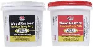 J-B Weld 40007 Wood Restore Premium Epoxy Putty Kit (Best for Exterior)