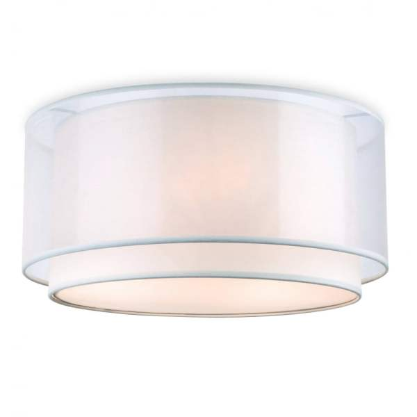 Firstlight Chicago 3 Light Flush Ceiling Light With Cream Shade     Chicago 3 Light Flush Ceiling Light With Cream Shade 5914CR