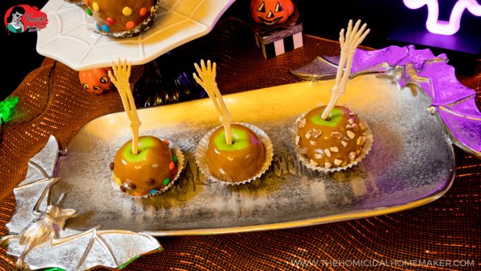 Perfect SCAREamel Apples with Nostalgia Electrics Caramel Apple Party!