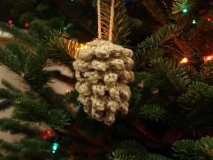 Crocheted Pine Cone from Planet M Files