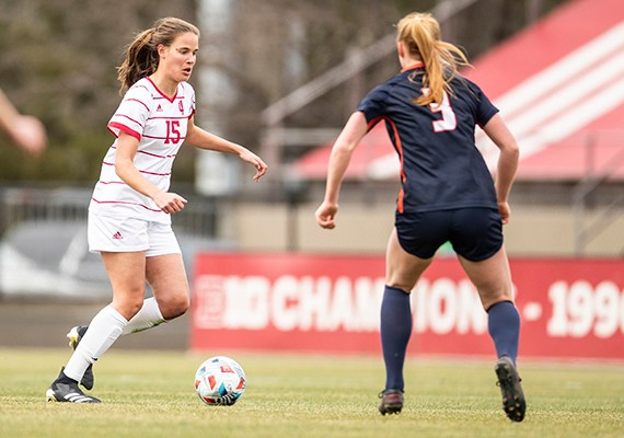 Indiana women's soccer battles to scoreless tie with Maryland