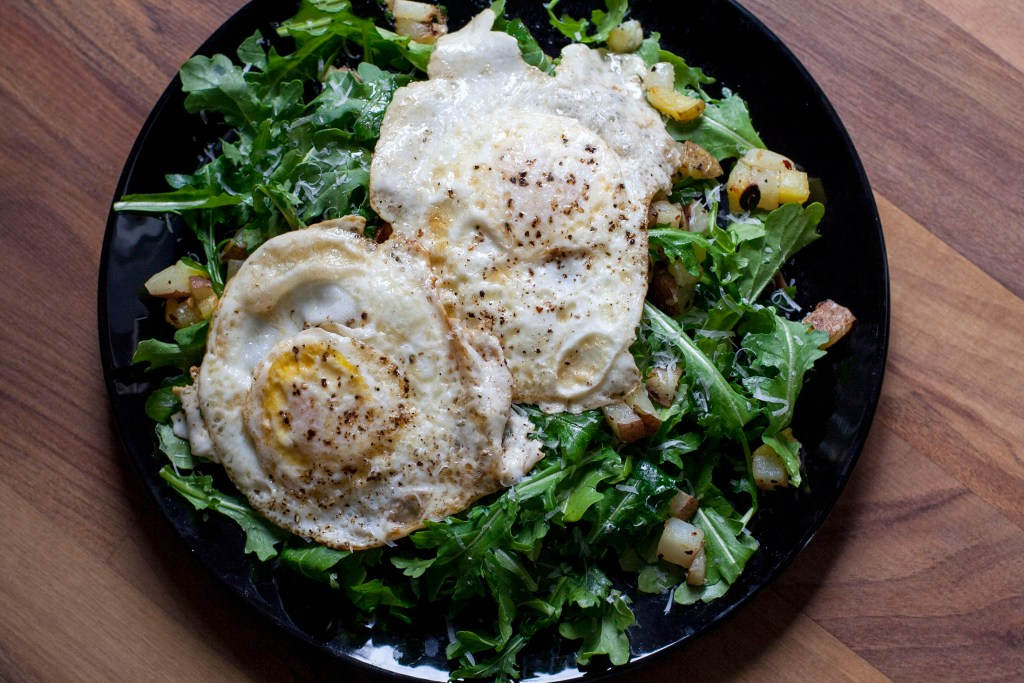 fried-potato-arugula-salad