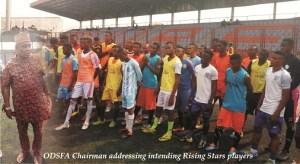 ODSFA boss harps on talent devt as Rising Stars begin screening