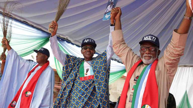 Assembly victory results of Akeredolu's performance