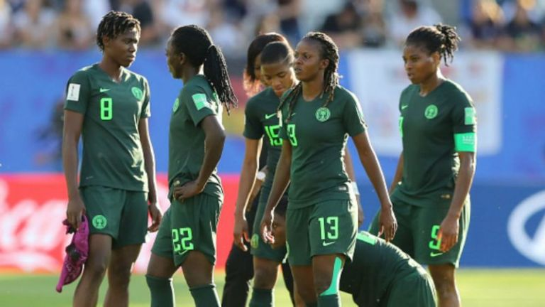 Super Falcons protest over unpaid bonuses  after World Cup exit
