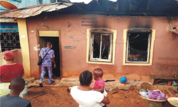 Fire razes property in Ondo
