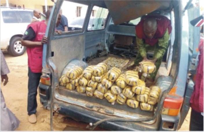 Ekiti NDLEA seizes 1,400 kg drugs, arrests 109