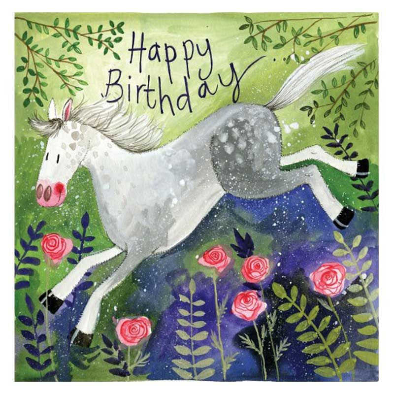Rosie Horse Happy Birthday Card Alex Clark Art The Horse Diva