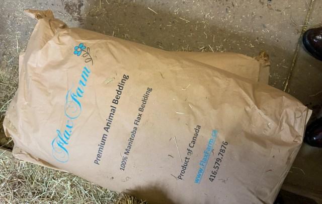 Flax bedding